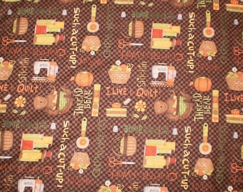 Debbie Mumm Flannel - Quilting - 1 Yard 22 inches