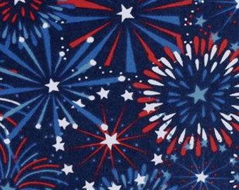 Snuggle Flannel Fabric - Fireworks Display - Sold by the Yard