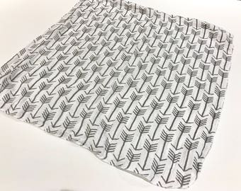 Grey Arrows Baby Swaddle Blanket