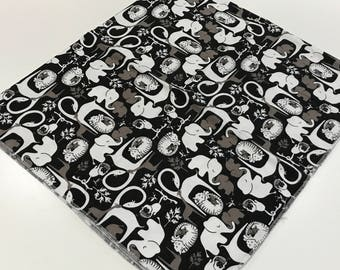 Monochrome Zoo Baby Boy Flannel Receiving Blanket