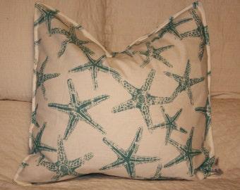 "20"" x 20"" Square Pillow Cover - Sea Blue Starfish, Cushion Cover, Throw Pillow, Premier Prints, Baby, Nursery, Home Decor"