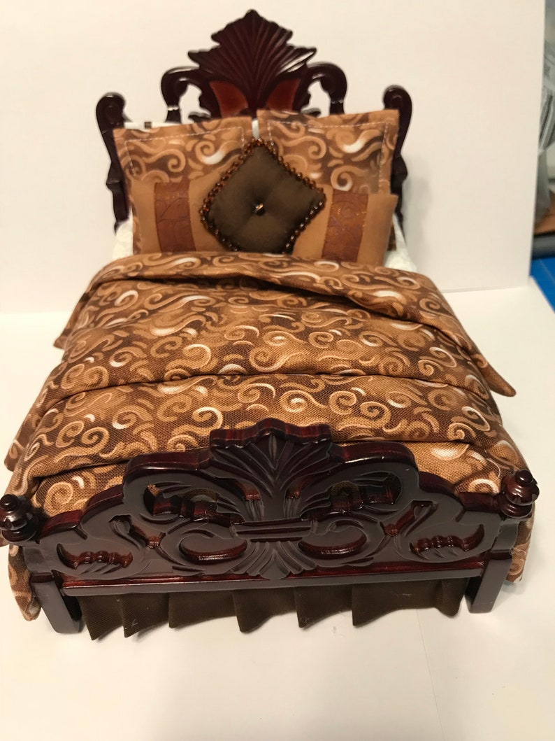 Dollhouse Miniature CUSTOM BEDDING Made to Order for YOUR Bed, Bedroom  Furniture