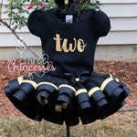 Black and Gold Birthday Set Vinyl Numbers and Lettering
