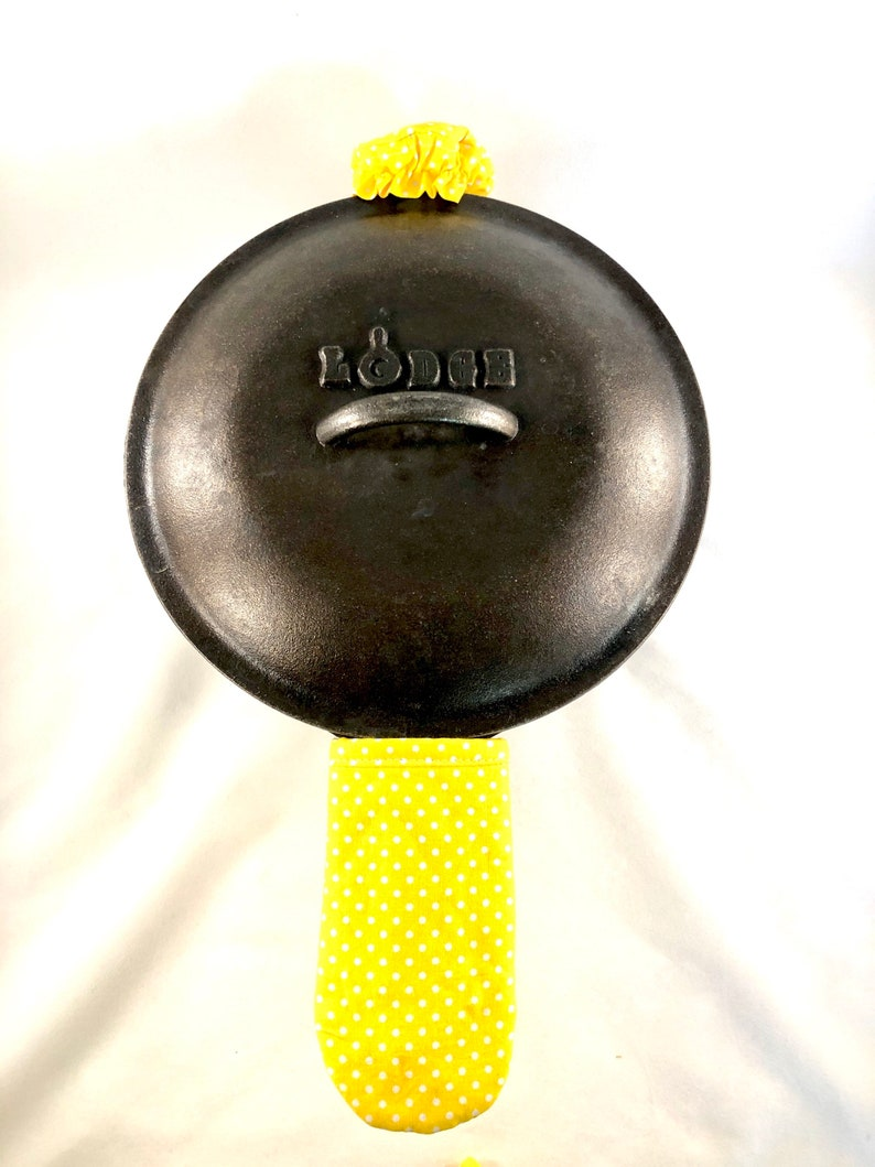 skillet sock Skillet handle cover skillet grip cover handle shape pot holder handle and knob set fry pan insulated cast iron yellow