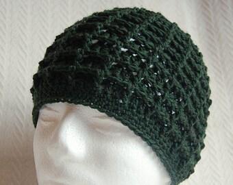 Men's Waffle Hat Crochet Pattern