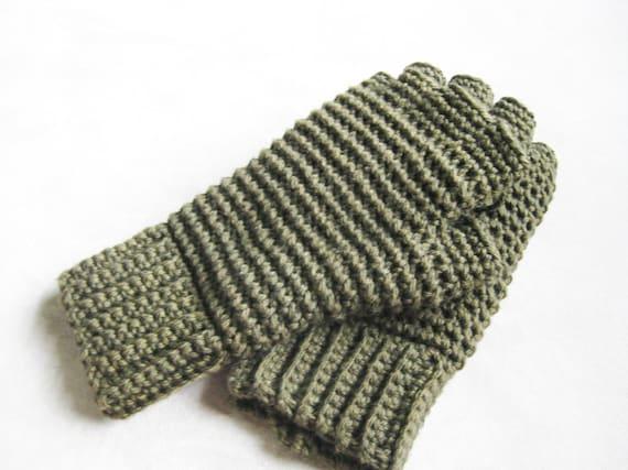 Mens Thermal Fingerless Gloves Crochet Pattern Etsy