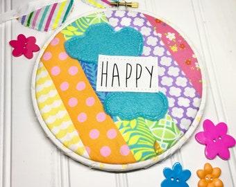 Happy rainbow hoop