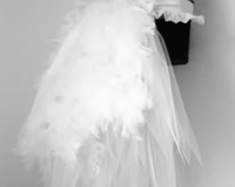 White Swan Burlesque Bridal Bustle Belt size US 2 4 6 8 10 UK 6 8 10 12 14 a12dbfeb2