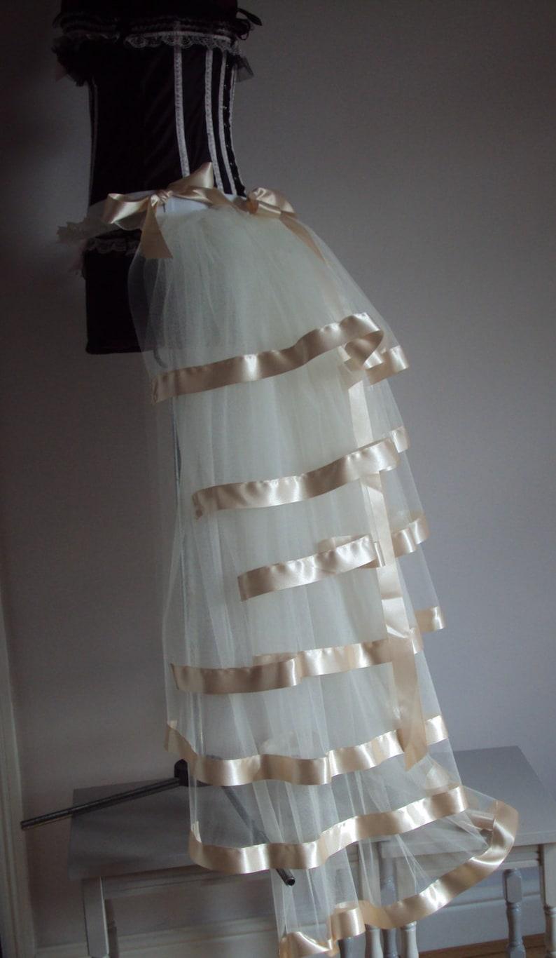 Ivory Cream Bridal Burlesque Steampunk Bustle Belt size US 2 4 6 8  10 UK 6 8 10 12 14