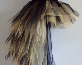 Black Gold Tutu Skirt Burlesque  sizes U.S.2 4 6 8 U.K.6 8 10 12 Halloween Cosplay