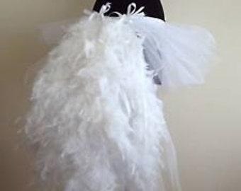 White  Swan Tutu skirt Burlesque  all sizes avaliable  feathers