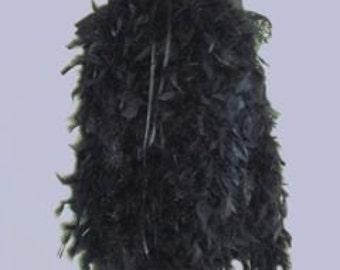 Black Feather Burlesque Bustle Belt size US 4-10 UK 6-12