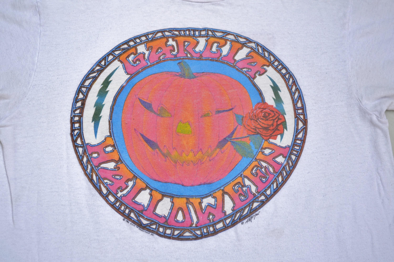 1986 Garcia Band Halloween 86' Tour Dead Grateful Dead Tour Shirt taille L Stoner Phish Alton Kelley T-Shirt Hippie Jerry Garcia San Francisco Trip 0dbb89