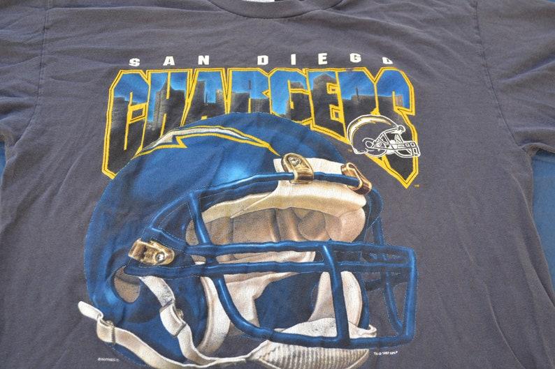 1a54b9e5f 1997 San Diego Chargers T-Shirt Size XL NFL NFC Football