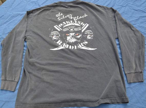 Vintage Oakland Raiders The Sliver And Black Long Sleeve Shirt  6edb0f452