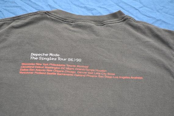 1998 Depeche Mode 101 The Singles Tour Shirt Size