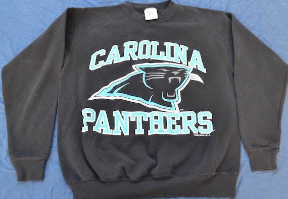 90 s Carolina Panthers Long Sleeve Sweatshirt Size M NFL  bffe06597