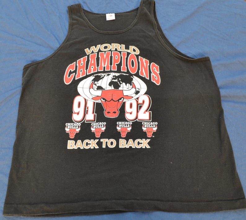a8b59bbfc8788f 90 s Chicago Bulls World Champtons Tank Top Shirt T-Shirt