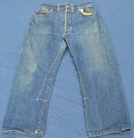 Rare Vintage Buckle Back Jeans 40's 50's Blue Deni