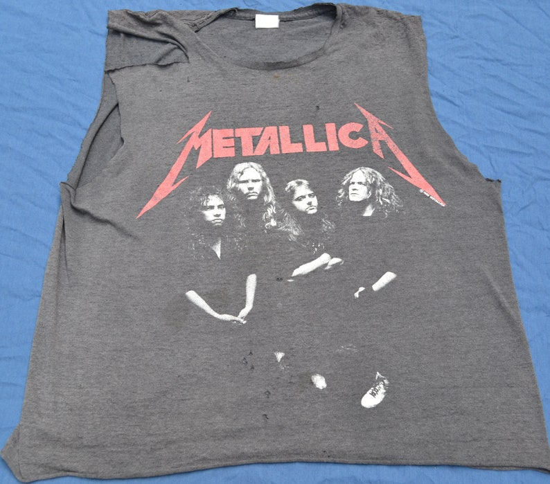2bce77f6cc6d6 1988 Metallica And Justice For All Sleeveless Tour