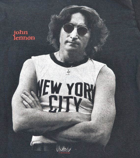 1998 John Lennon New York City T Shirt Rock Tee Shirt Size S Etsy