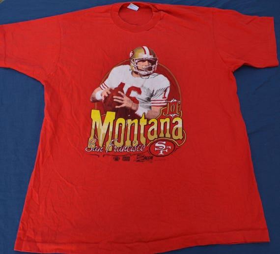 more photos d5bb9 170fc 1990 Joe Montana San Francisco 49ers T-Shirt Size XL Salem Sportswear NFL  Football
