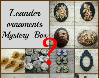 Leanderornaments Mystery Bag Box Mysterybox Surprise Box Gift Box Gift Surprises Crafts Jewelry Making Findings Ornaments Cameos Christmass