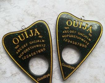 Ouija Charm Planchette Resin Charm Pendant Ouija Pendant dark green 2 pieces 6cm PLANCHETTE CHARM OUIJA