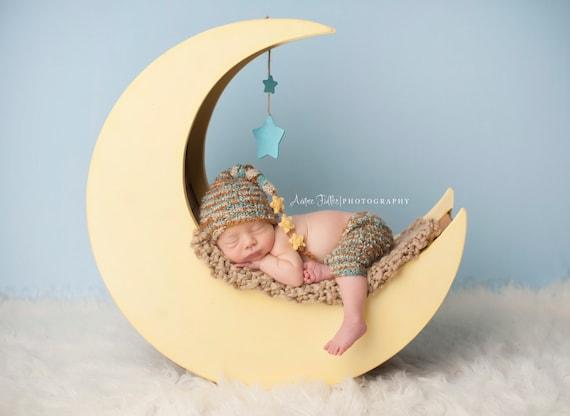 Moon prop moon photo prop wood moon the original newborn