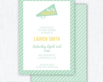 Hip Hip Hooray Party Invitation Printable