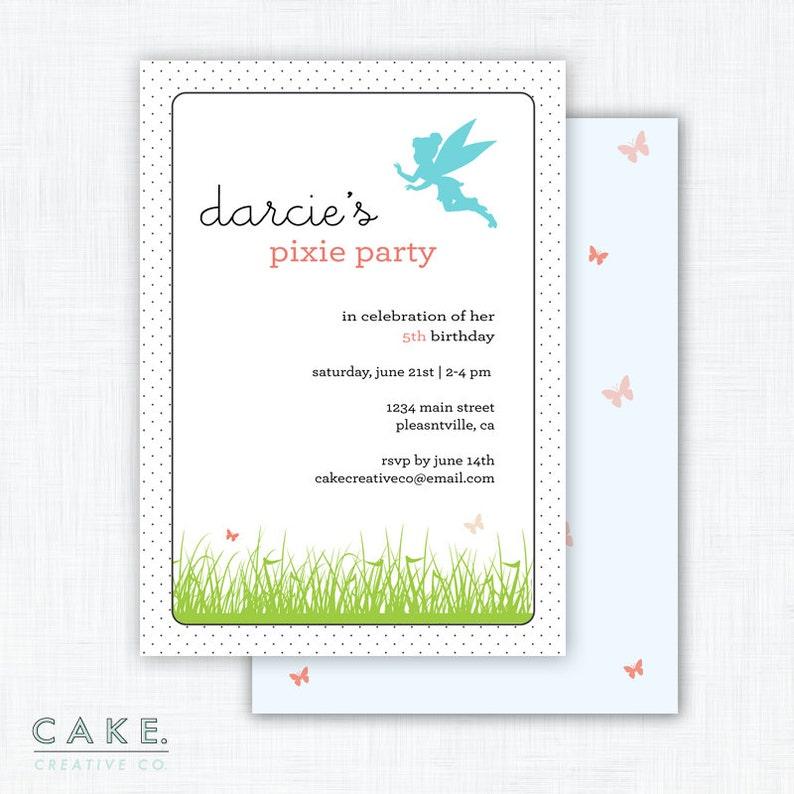 Fairy Party Invitation Printable