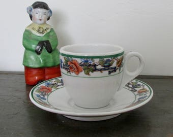Demitasse Cup and Saucer Shenango China Distributor L. Barth & Sons 1930s-40s American Restaurantware