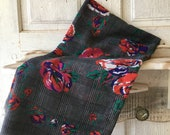 STUNNING JP Collections shawl scarf plaid with colorful roses sheer polyester fabric with fraid edges fashion accessories women 39 s fashion