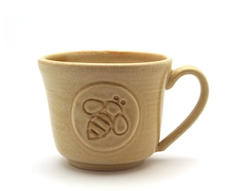 Honey Bee Coffee Mug in Cream Mothers Day Gift  Ready to Ship