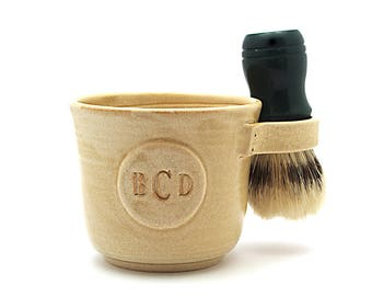 Shaving Mug with a Monogram Brush Not Included Fathers Day Husband Gift Made to Order in 6 to 8 Weeks See Item Details
