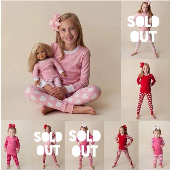 01a996eeb0 Valentine pajama sets for kids Add a name monogram or multi