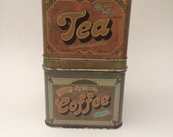 Set of 2 Canisters - Coffee, Tea