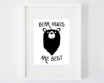 Bear Hugs are Best - Art Print