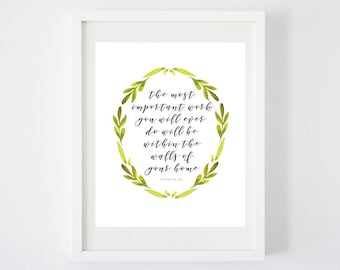 The Most Important Work - Art Print