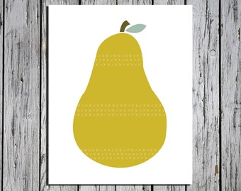 Pear -  Digital Download Art Print