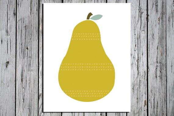 Pear -  Digital Download Art Print