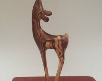 Marbled Pottery Deer Figure