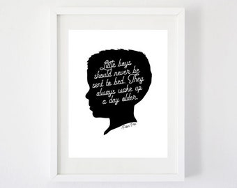 Little Boys - Petter Pan Quote Art Print