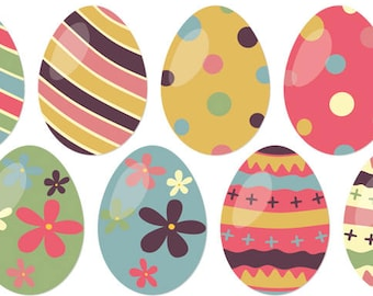 Easter Egg Window Clings (set of 8)