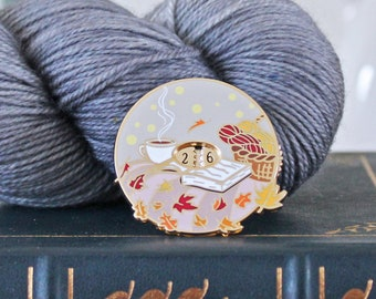 Limited Edition Autumn Row Counter Pin - Hard Enamel Pin Knitters Flair