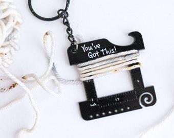 Matte Black 'You've Got this!' Knitter's Keychain Multi Tool
