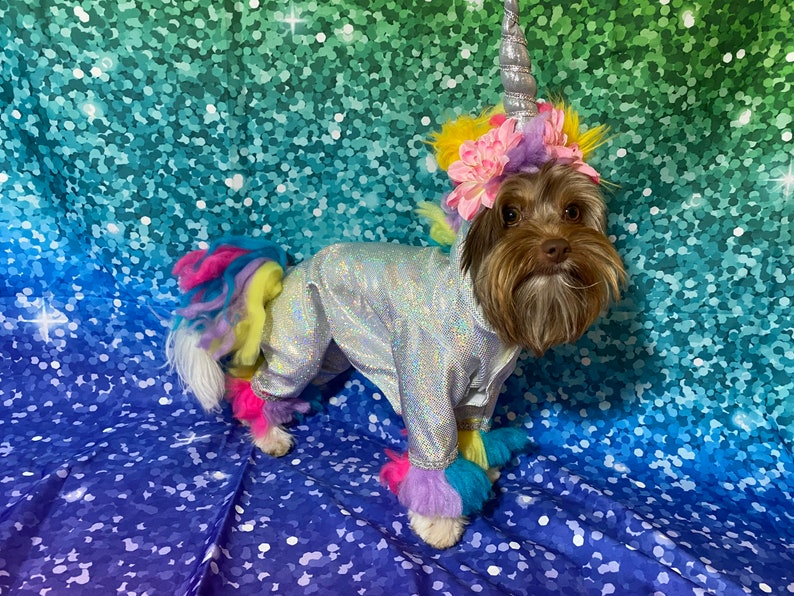Magical unicorn dog costume perfect for Halloween image 0