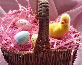 Vintage Willow Woven (Easter) Basket