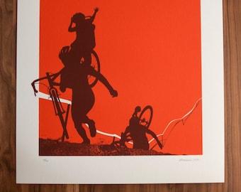 Proud Mama - Artcrank Minneapolis 2015 Screen Printed Bike Poster