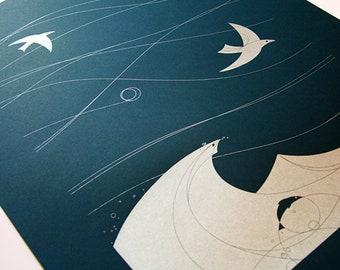 Turbulence - AIGA Artisan Activist 2011 Screen Printed Poster